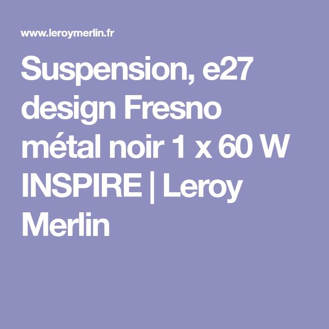Suspension e27 design Fresno métal noir 1 x 60 W INSPIRE
