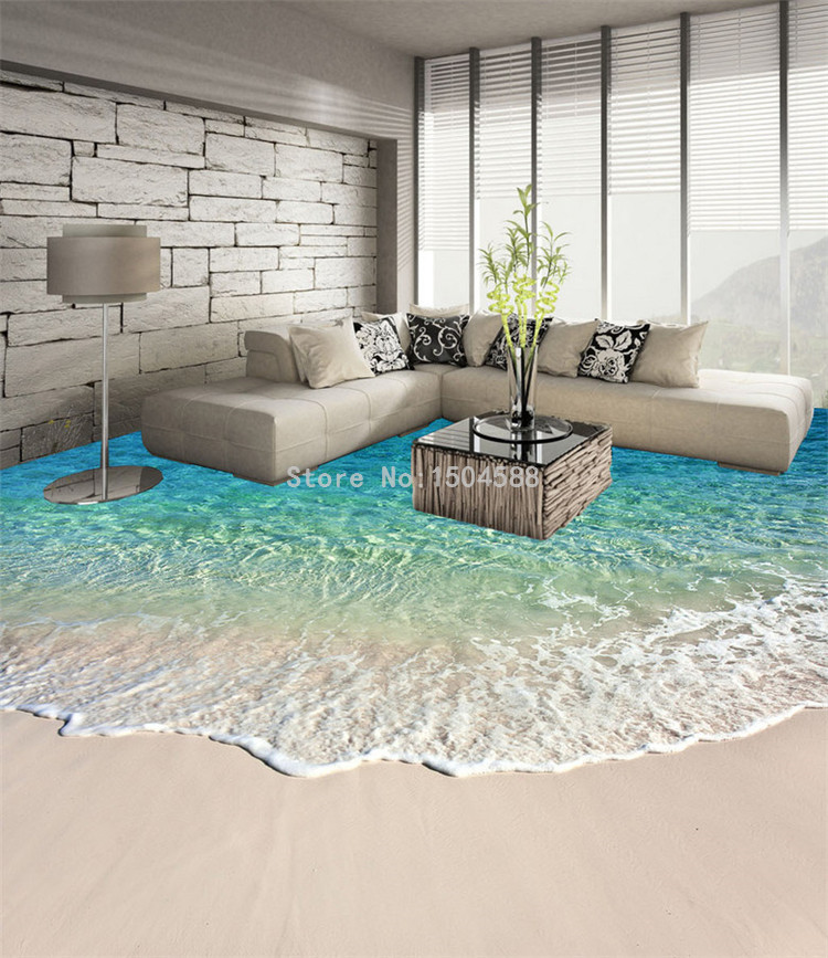 Custom Self adhesive Floor Mural Photo Wallpaper 3D