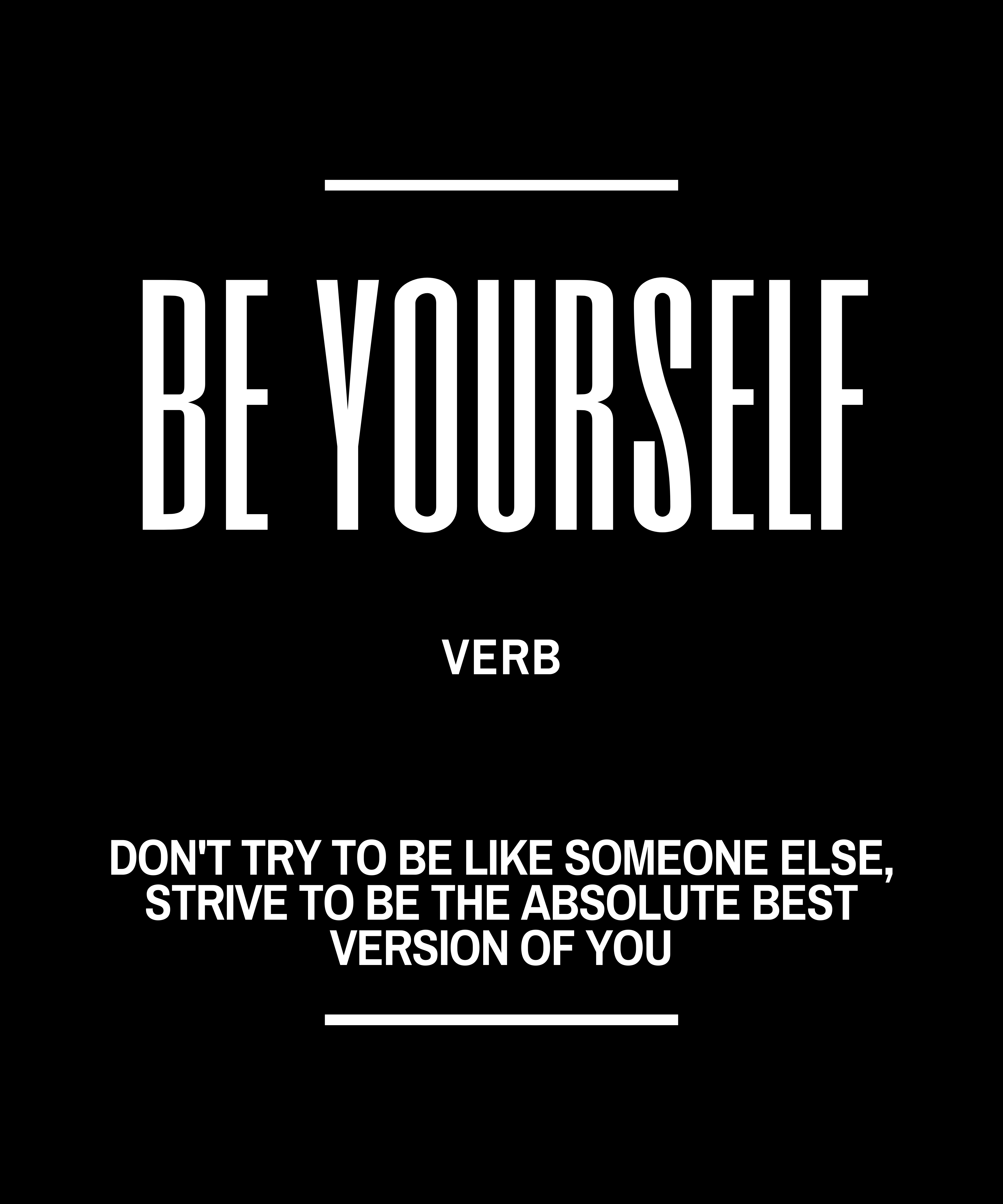 Be Yourself Definition Quote Faux Canvas Print Zazzle Com In 2020 Be Yourself Quotes Inspirational Quotes Inspirational Quotes About Success