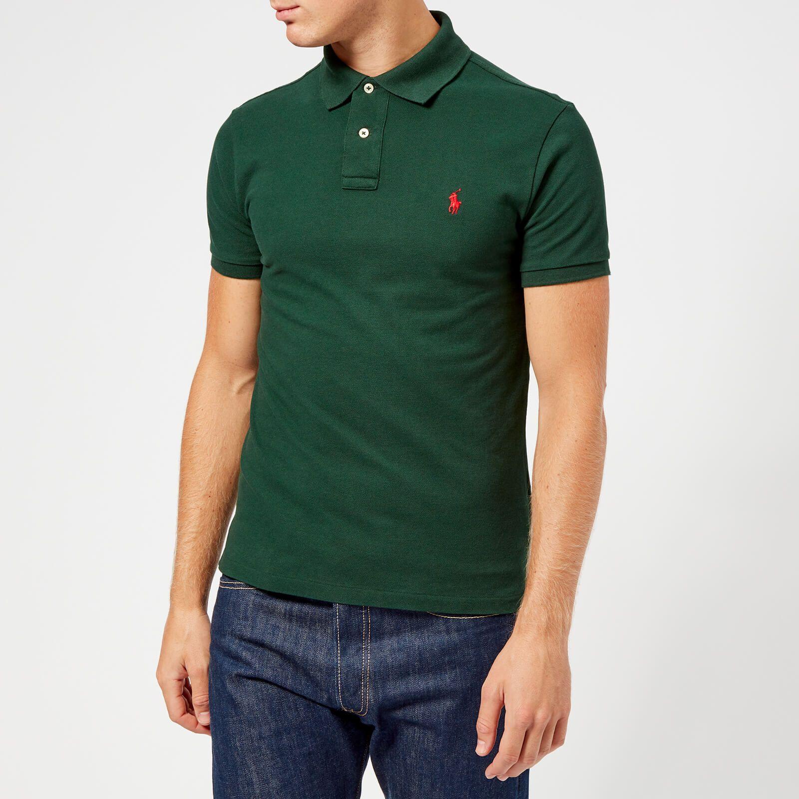 Polo ralph lauren men's slim fit short sleeve polo shirt - college ...