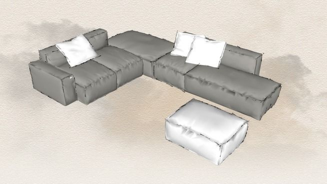Sofa Bonaldo Peanut 3d Warehouse