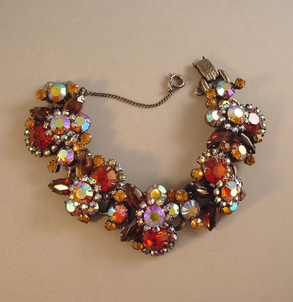 Juliana - Bracelet with lush colors of caramel and brown