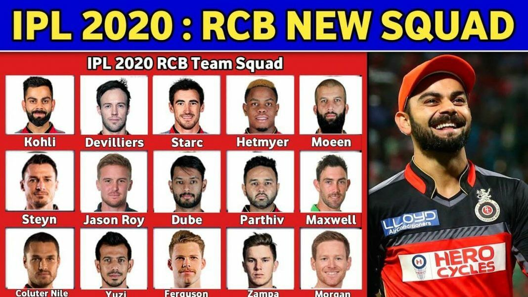 Royal Challengers Bangalore Rcb Team Players List In 2020 Royal Challengers Bangalore Challenger Live Cricket Tv