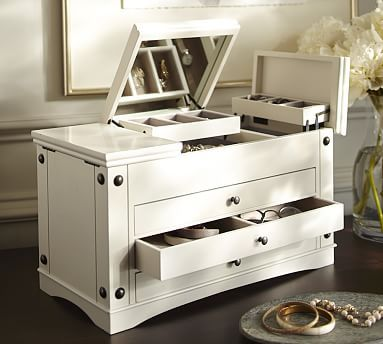 Ultimate Jewelry Box ExtraLarge White Jewelry Boxes Displays
