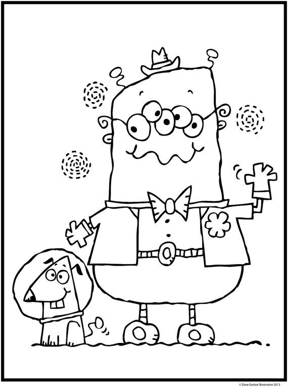 ALIENS PAK TWO / 5 Coloring Pages for Kids! Black and ...