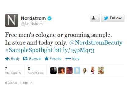 Free Men's Cologne or Grooming Sample at Nordstrom (today only) - http://getfreesampleswithoutsurveys.com/free-mens-cologne-or-grooming-sample-at-nordstrom-today-only