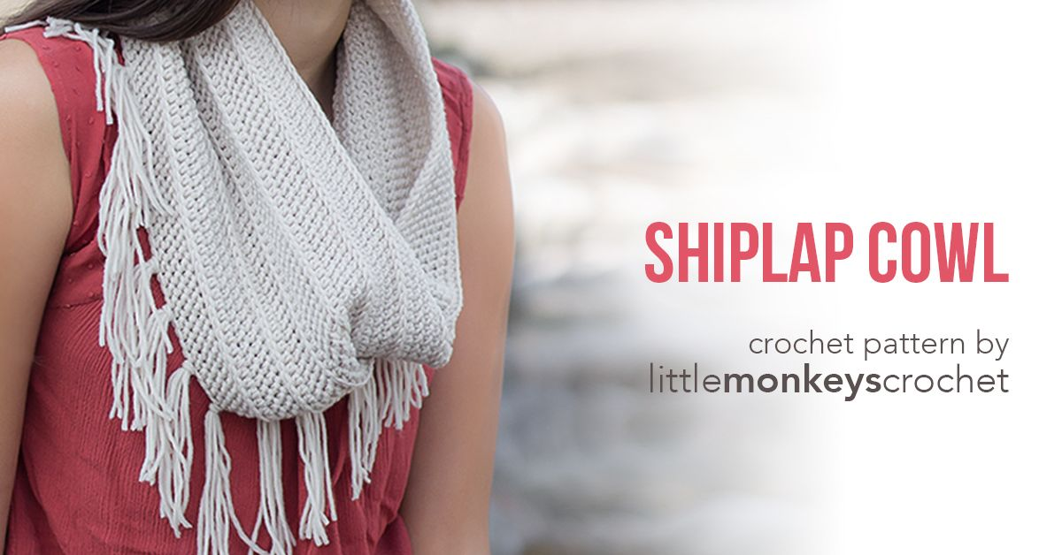 This fun fringe cowl is a beautiful match to the Shiplap Slouch.