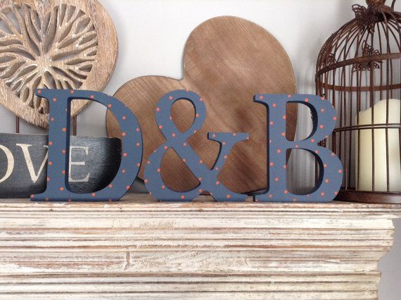 Freestanding Wooden Wedding Letters Set of 3 by LoveLettersMe