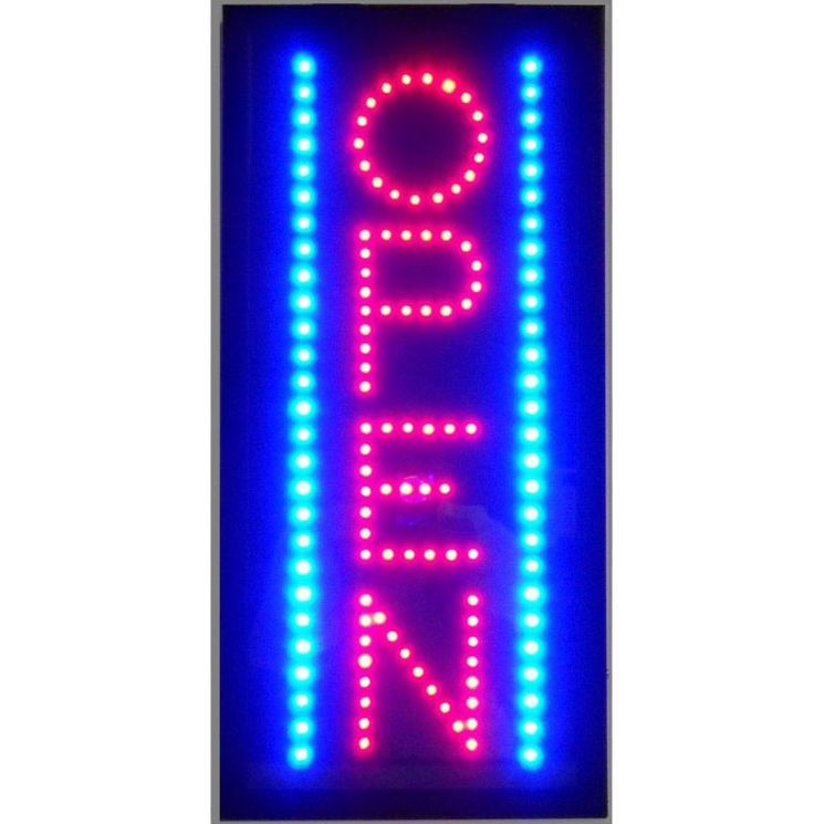 Open Vertical LED Sign