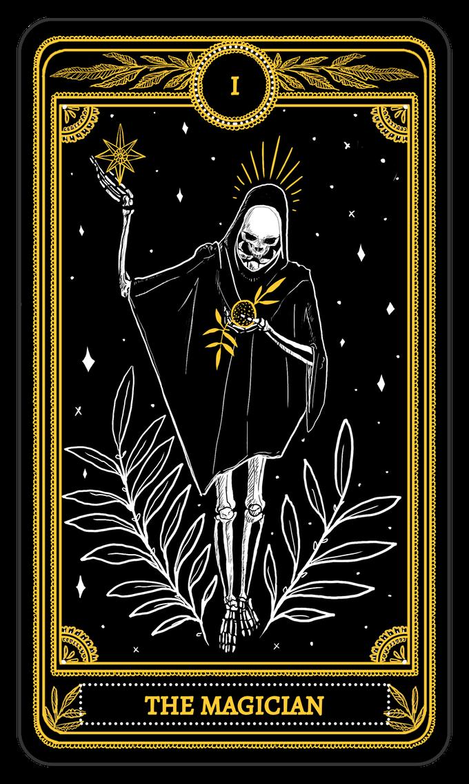 The Magician From The Major Arcana Of The Marigold Tarot