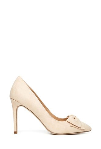 Faux Suede Bow Pumps | FOREVER21 - 2000137005