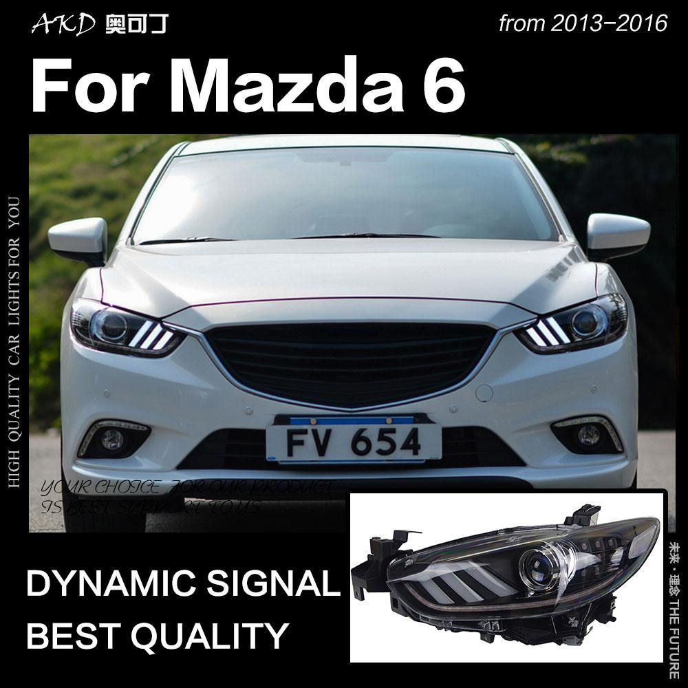 akd car styling for mazda 6 atenza led headlight 2013 2017 mustang design led drl [ 1000 x 1000 Pixel ]