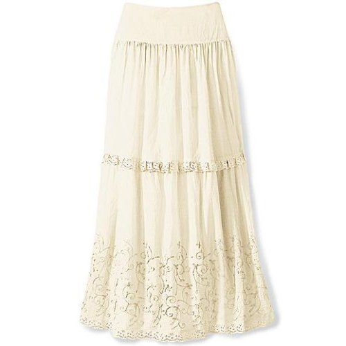 Modals wearing long skirts | Beautiful Modern Latest White Long ...