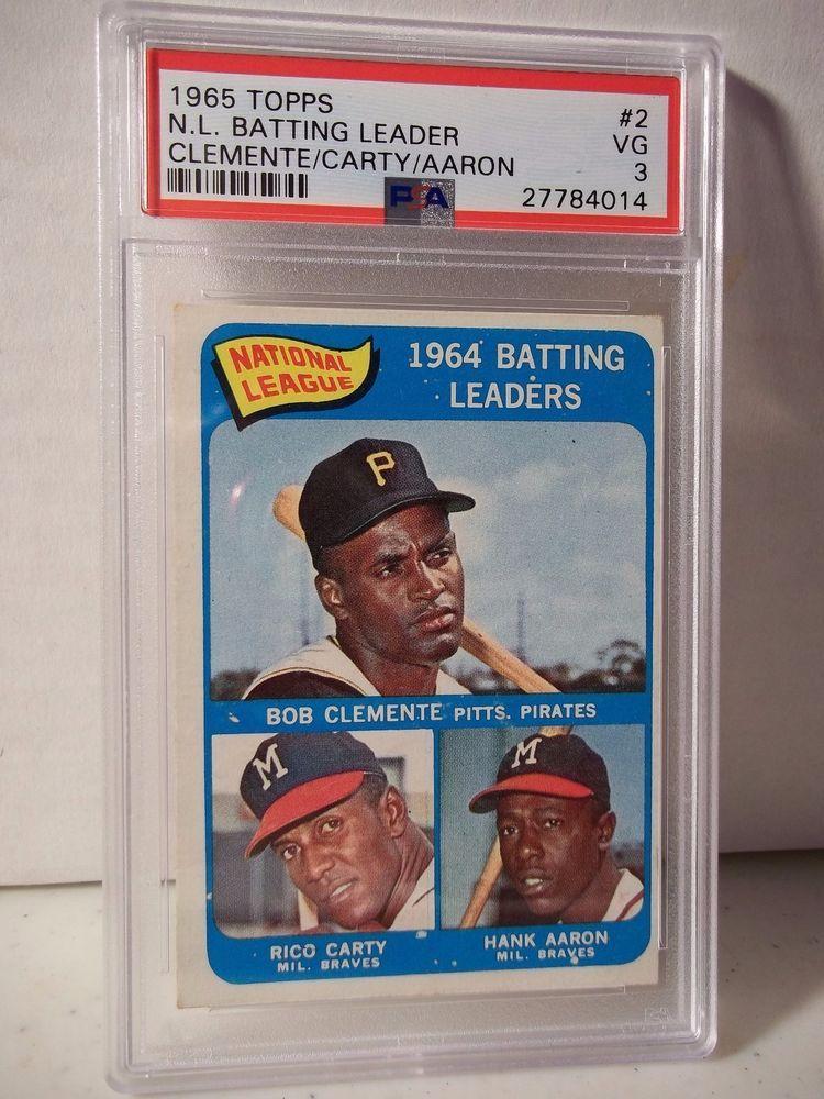 1965 Topps Clemente & Aaron PSA VG 3 Baseball Card 2 MLB