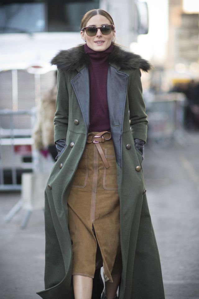 Green jacket with belt