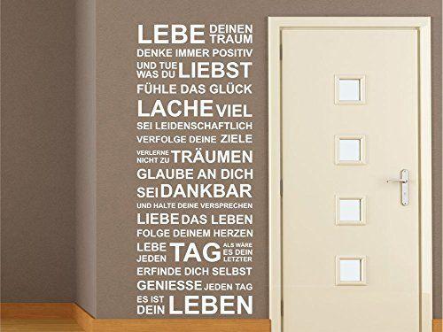 Wandtattoo Motivation Familie Wohnzimmer Flur Diele Spruche Zitat