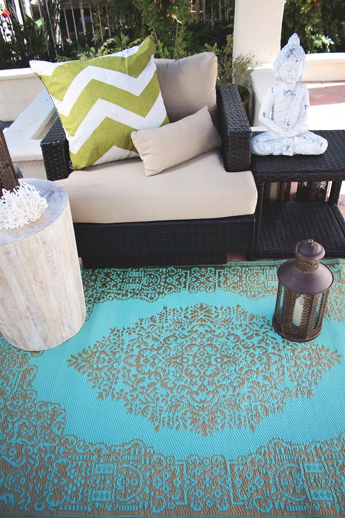 Fab Habitat Istanbul Reversible Indoor Outdoor Rug Fair Aqua Bronze Rugs Australia Outdoor Plastic Rug Indoor Outdoor Rugs