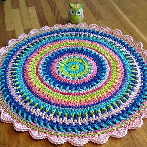 All Colours Mandala pattern by Johanna Lindahl #crochetmandalapattern
