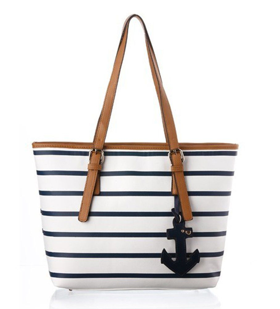 COOLER bande épaule de sac à main grand sac en cuir PU sac de mode fraîche  de la marine de style femmes de sac à main d achats  Amazon.fr  Chaussures  et ... 7ecec839fc41