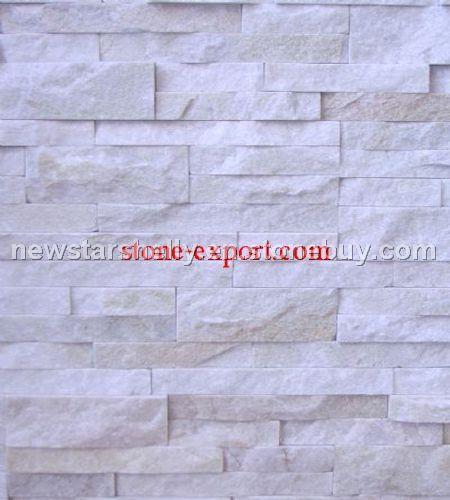Offer Culture Slate Tile Stack Stone Wall Cladding White Quartz Tiles