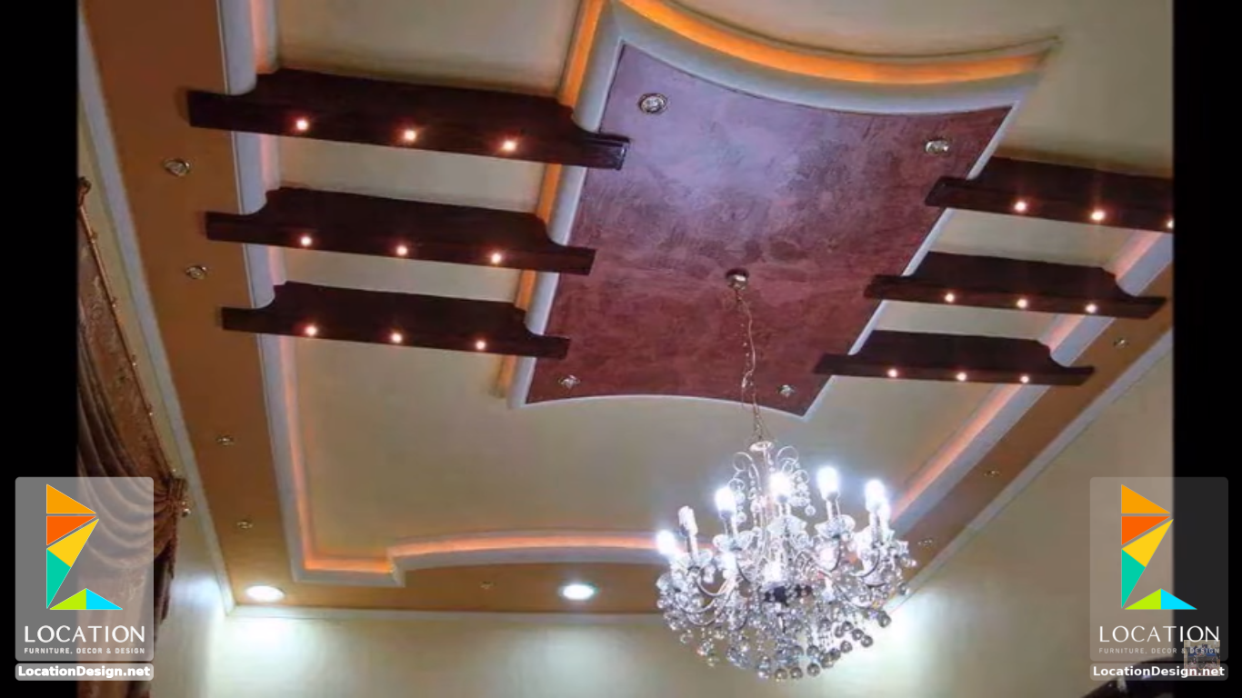 ديكورات جبس اسقف راقيه 2018 تصميمات جبسيه للشقق المودرن لوكشين ديزين نت False Ceiling Design False Ceiling For Hall Ceiling Design