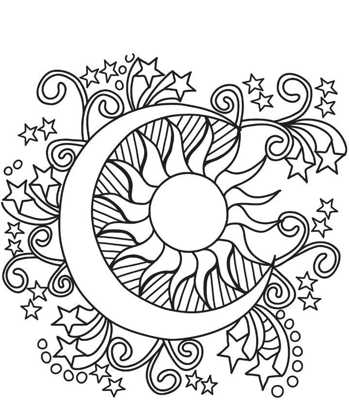 Circular Pattern Form Mandala Flower Henna Stock Vector Coloring Mandalas Coloring Jurnalist In 2020 Star Coloring Pages Moon Coloring Pages Mandala Coloring Pages