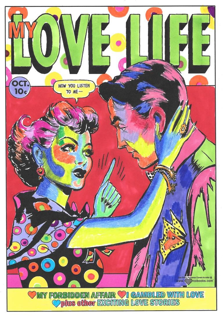 Get Free Romance Comic Coloring Book Covers To Color