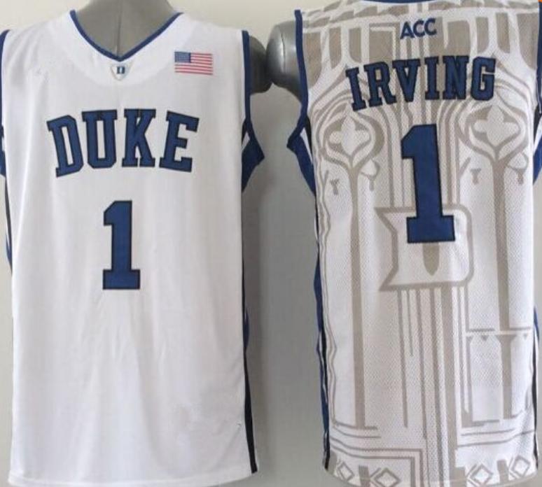 promo code b6f2e df87f Duke Blue Devils #1 Kyrie Irving Throwback Jersey | duke ...