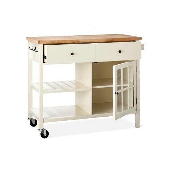 Threshold Windham Wood Top Kitchen Island 220 Liked On Polyvore Featuring Home Furniture Storage Kitchen Tops Top Kitchen Designs Grey Kitchen Island