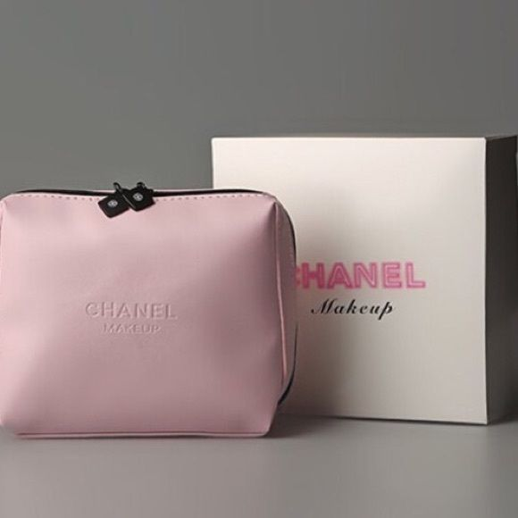 c4fa69a15e0a Chanel makeup bag. Very cute Chanel pink cosmetic case. Measures approx. 5  x 5.5. Comes with box, great gift. Vip gift. CHANEL Accessories