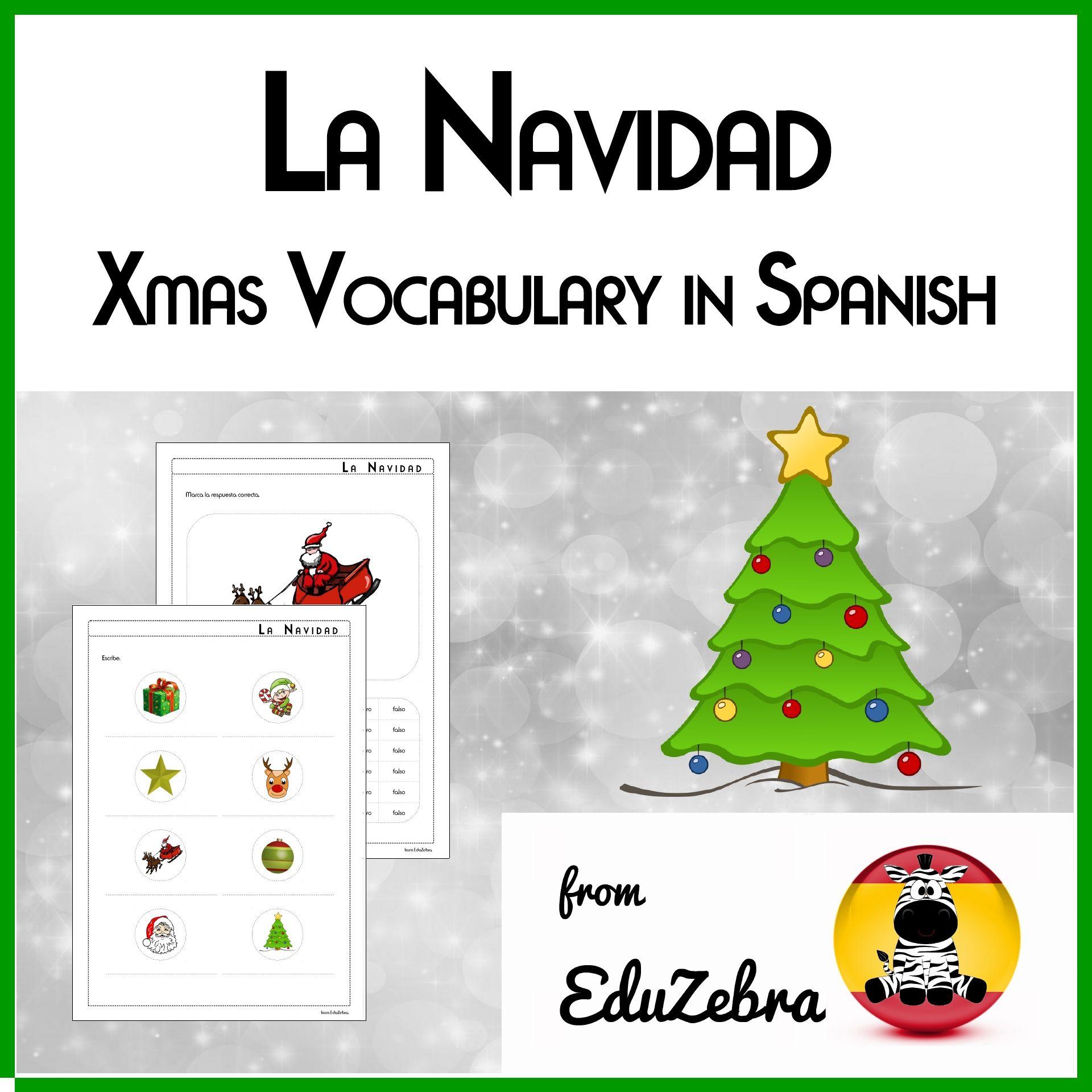 Christmas Vocabulary In Spanish