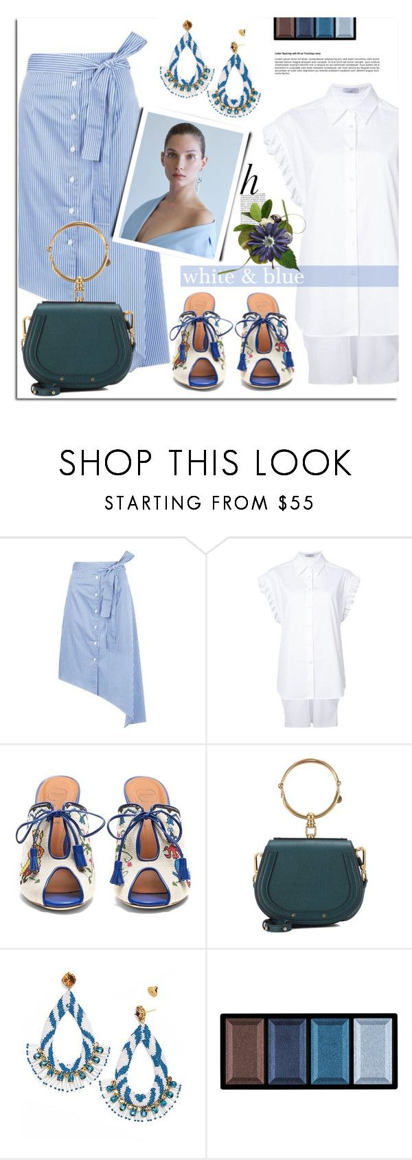 """Stripes and Frill"" by sophieandstyle ❤ liked on Polyvore featuring Whiteley and Clé de Peau Beauté"