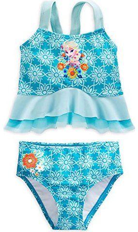 40f980ff77c Disney Store Little Girls' Frozen Elsa Deluxe Swimsuit   clothes ...