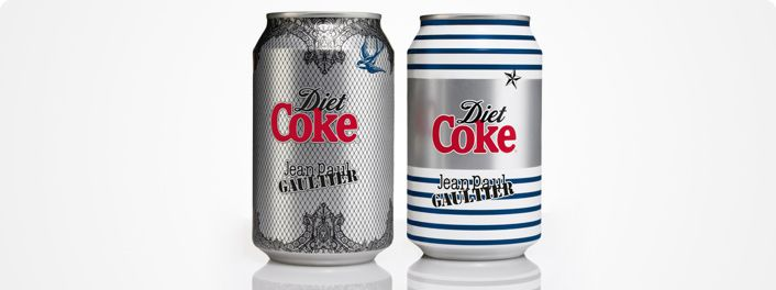 Fashion designer Jean Paul Gautier is bringing his most famous creations to life across bottles and cans of Diet Coke