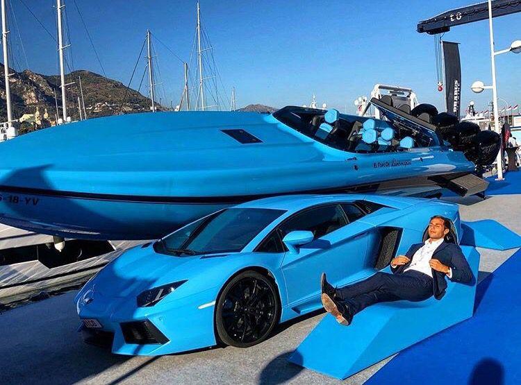 powerboats Speedboat lambo lamborghini aventador blue