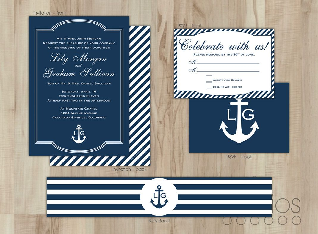 Nautical wedding invitations. Want to make an invitation? In this ...
