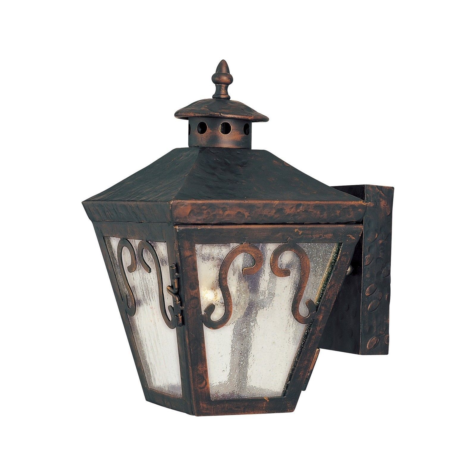 Maxim bronze forged shade cordoba light outdoor wall mount