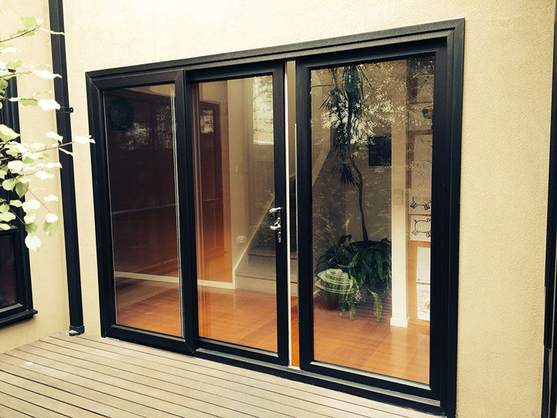 Black Upvc Sliding Doorswindows Double Glazed Entry Pinterest