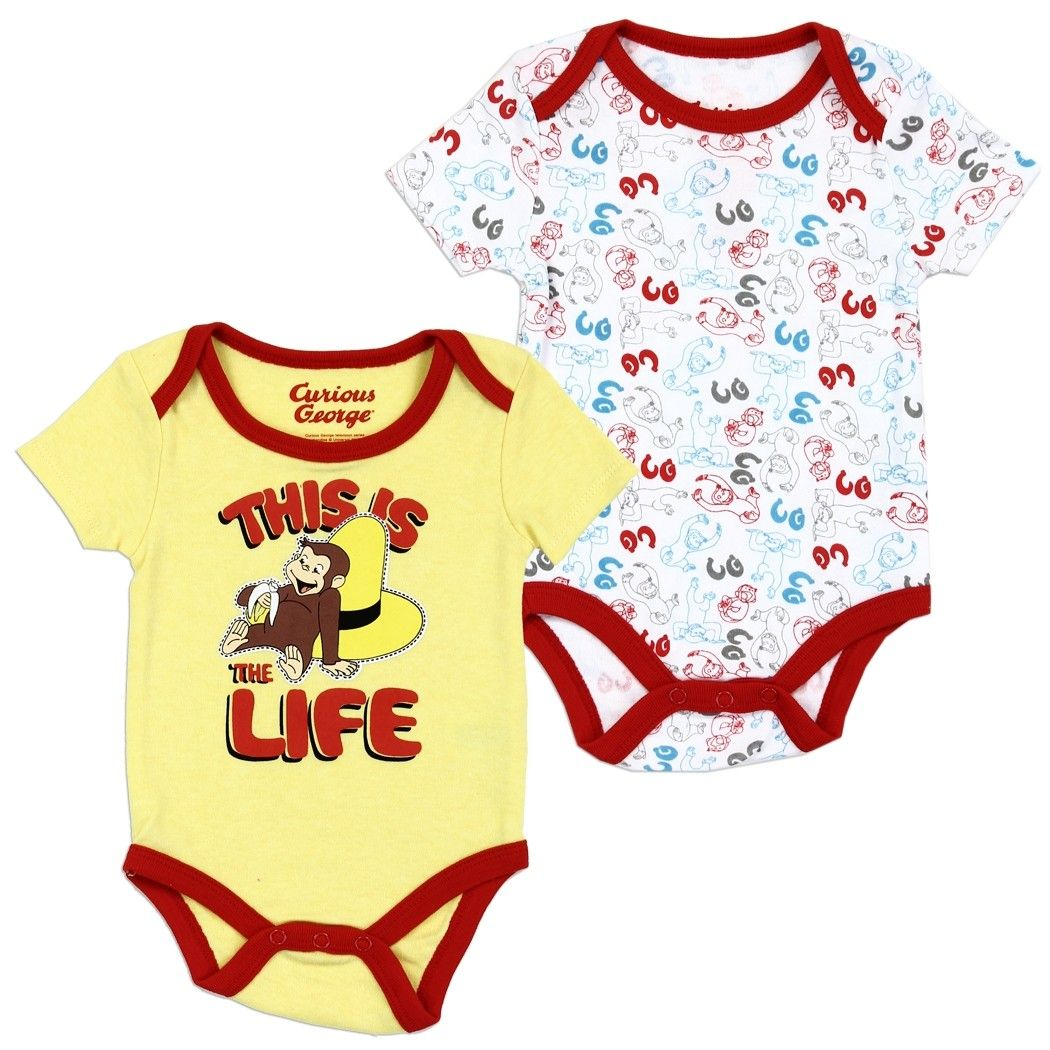 Curious George Baby Boys/' Costume Bodysuit Creeper and Hat Set