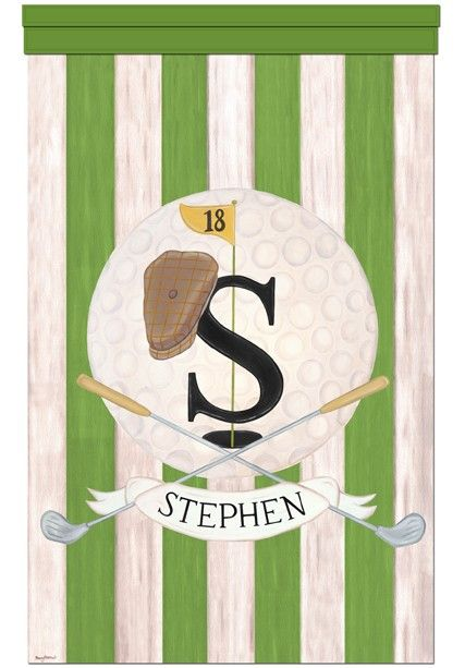 Golf Vintage Sports Collection Masters Green Wall By Slharnisch Canvas Wall Hanging Personalized Wall Sports Nursery Theme