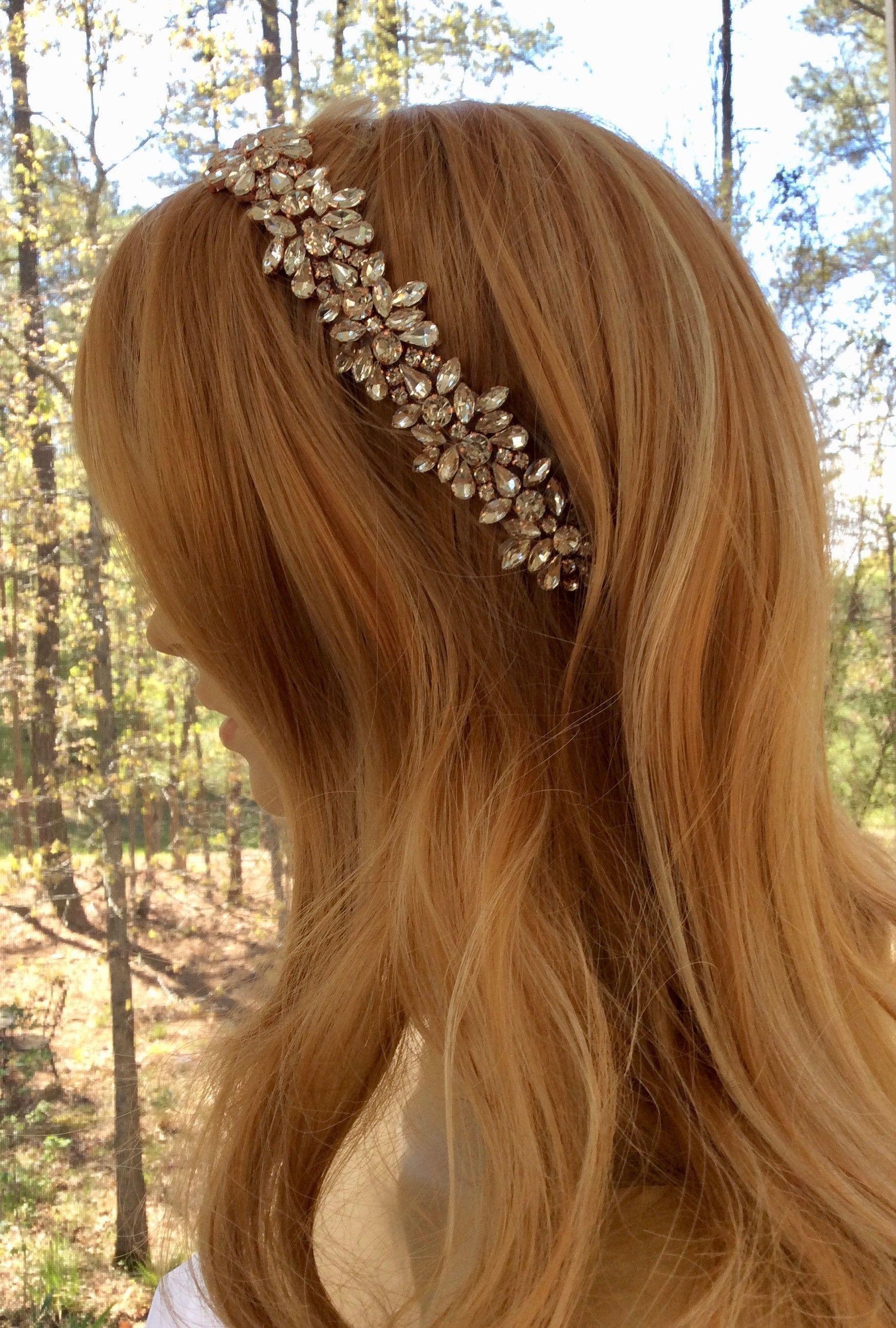 Bridal crown headpiece wedding formal headband weddingcrowns