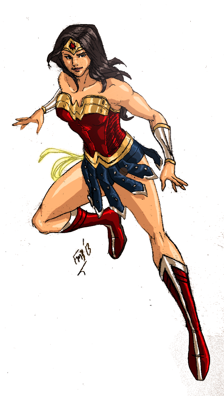 Dctv Wonder Woman Colored Wonder Woman Woman Colour Wonder Woman Costume