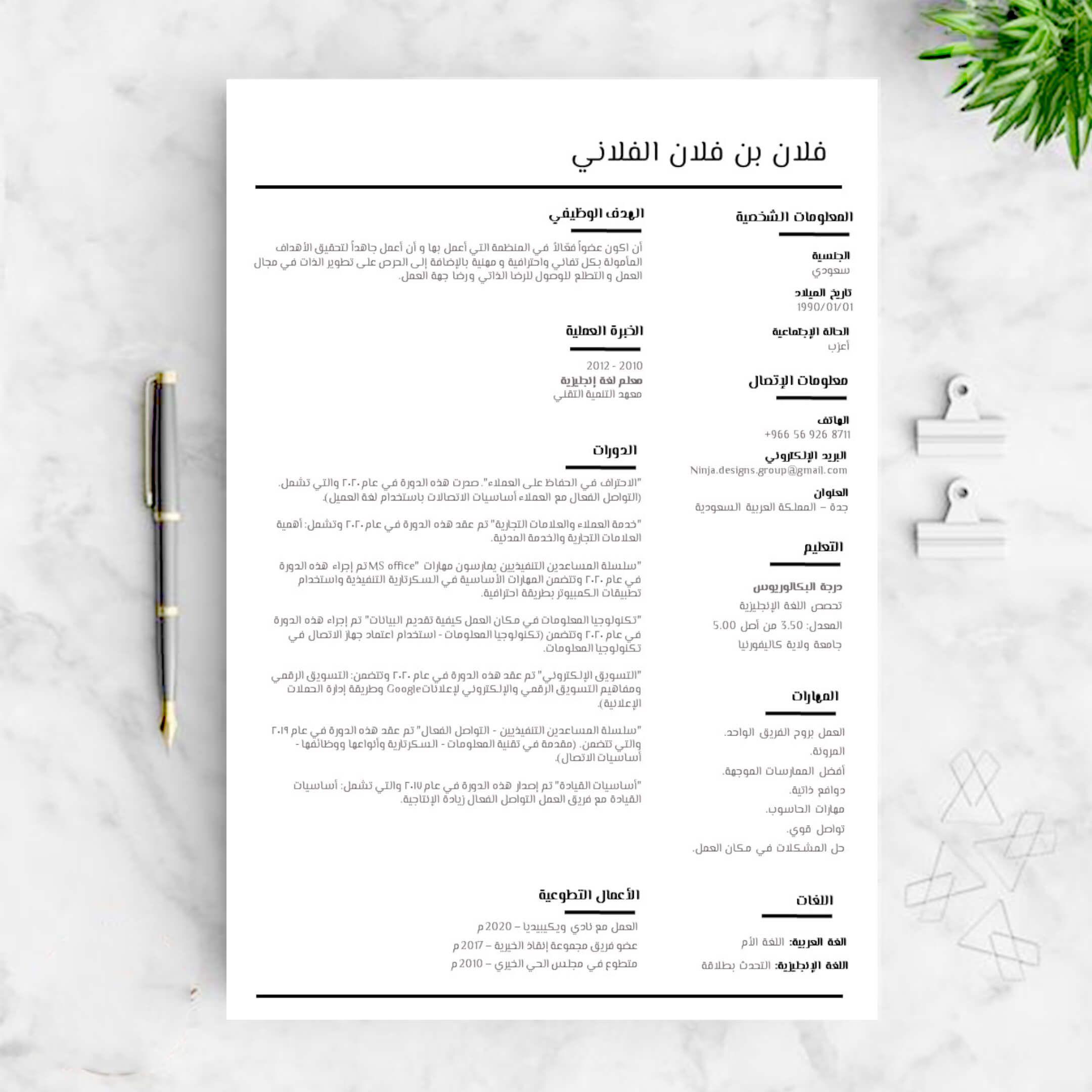 تصميم و صياغة سير ذاتية إحترافية بالعربية والإنجليزية 2020 Creative Cv Cv Design Design
