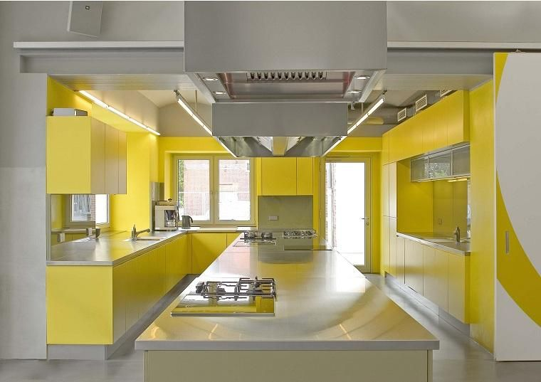 Gelbe Farbe In Küchen   Ideen Und Tipps, Um Den Raum Zu Bereichern #Gelbe