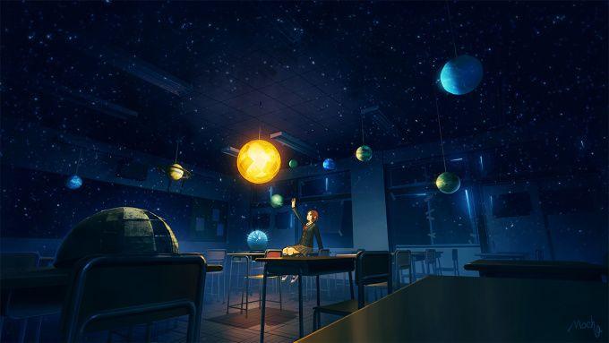 Real Planetarium Tokyo Otaku Mode 画像あり 幻想的 イラスト