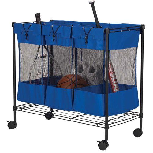 Nice The Triple Bin Storage Organizer Keeps Your Sports Gear And Toys Organized  With Three Poly