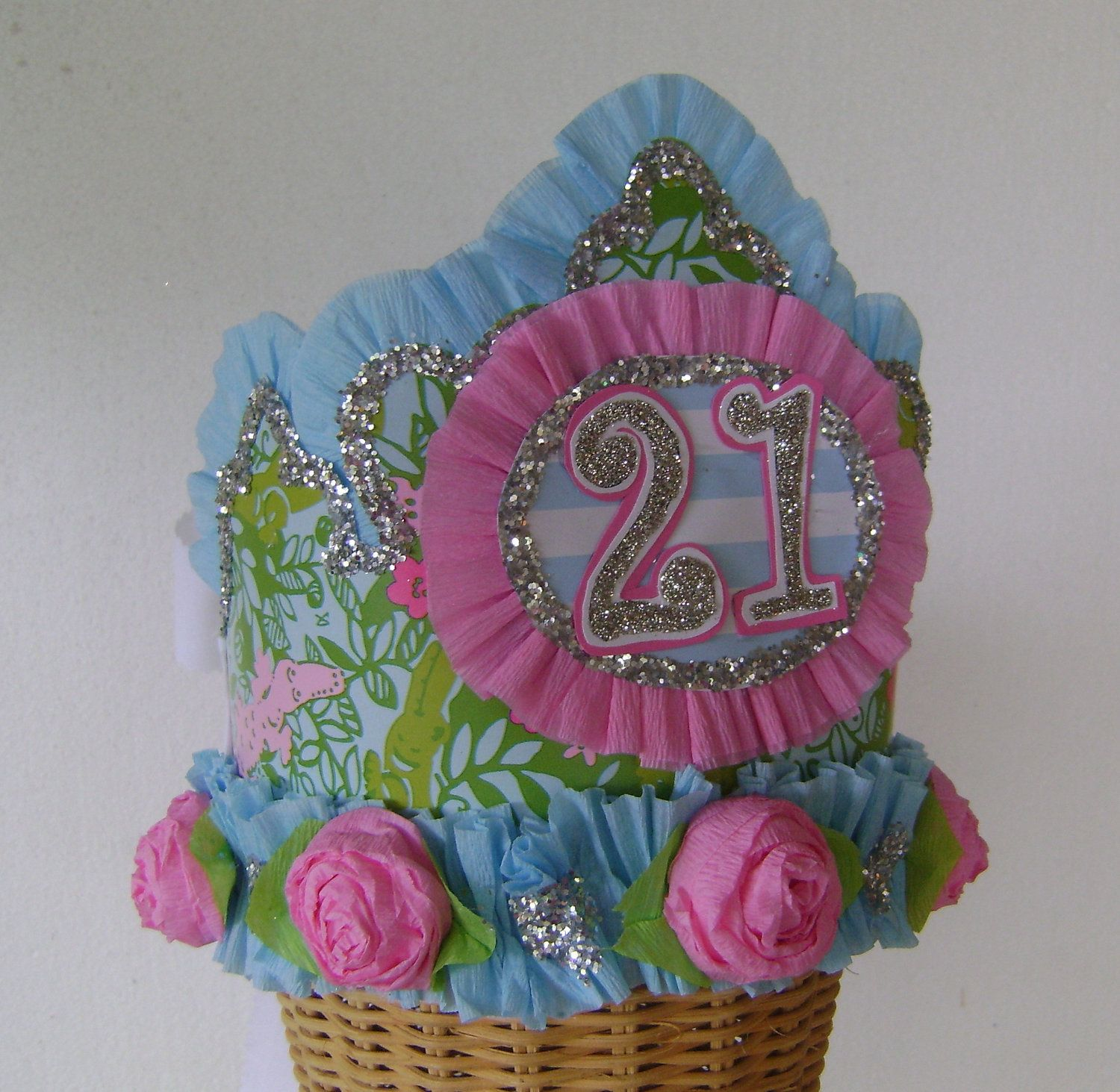 Lilly Pulitzer LATER GATOR 21st Birthday Hat / Crown- customize with ...