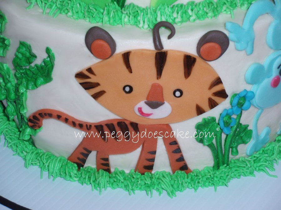 Fine Fondant Fisher Price Animals Fisher Price Rainforest Baby Shower Birthday Cards Printable Trancafe Filternl