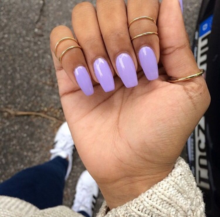 Pinterest Nuggwifee Lavender Nails Acrylic Nails Coffin