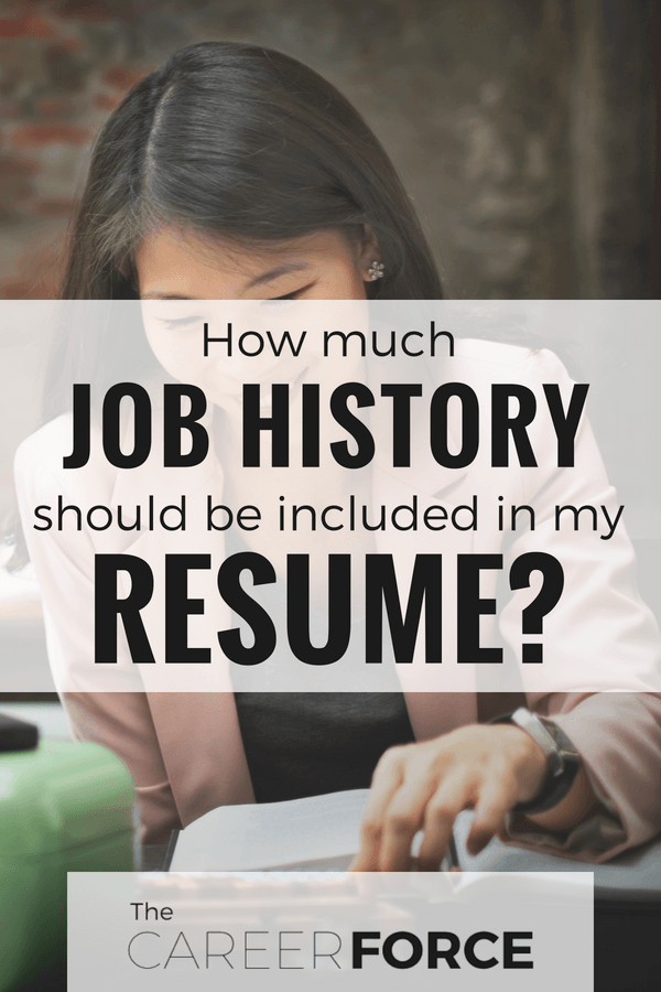 how much job history should be on my resume